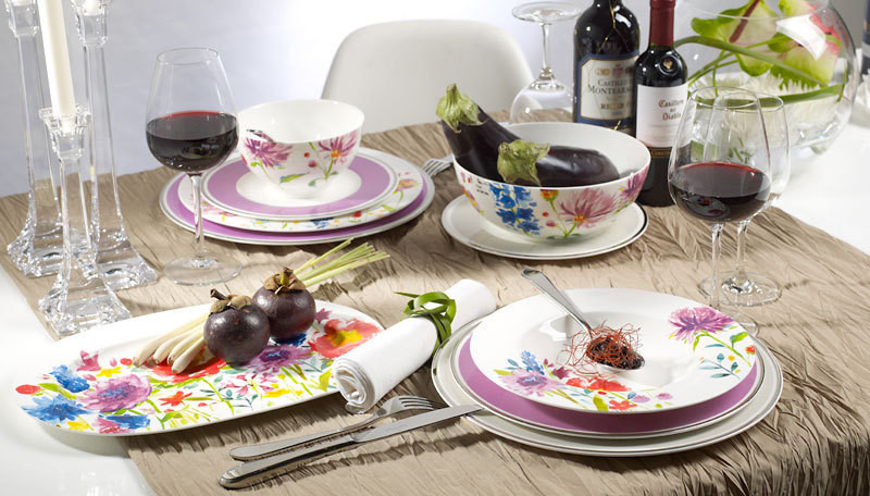 anmut flowers assiette plate villeroy et boch gallazzini arts de la table et de la. Black Bedroom Furniture Sets. Home Design Ideas