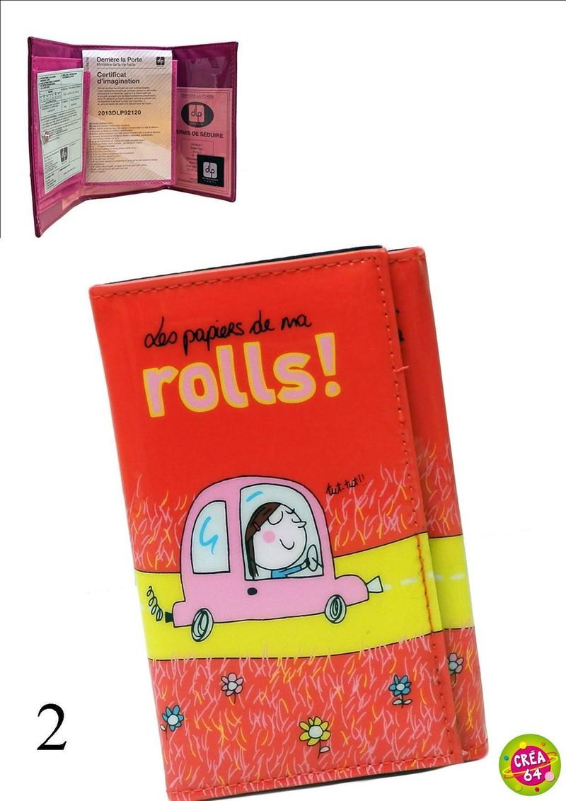 Porte Papiers De Voiture Femme DLP CREA Oloron Objet Du - Porte papier voiture