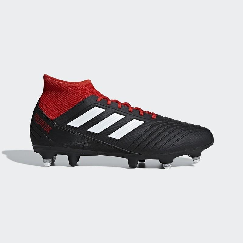 cheap for discount e9870 5d01a Chaussure Adidas Predator 18.3 Terrain Gras noir Claverie Sports