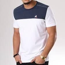Coq jean's TRI Sportif blancbleu SS Tee M N°2 Tee shirt Le BSqwxv6E